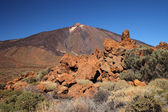 View of volcano Mount Teide, in Teide National Park