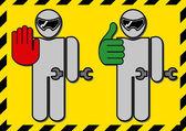 Mechanic pit stop icons Vector clip art