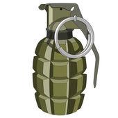 Green grenade on a white background No mash no gradient