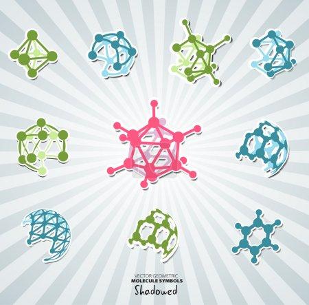 Molecule icons set