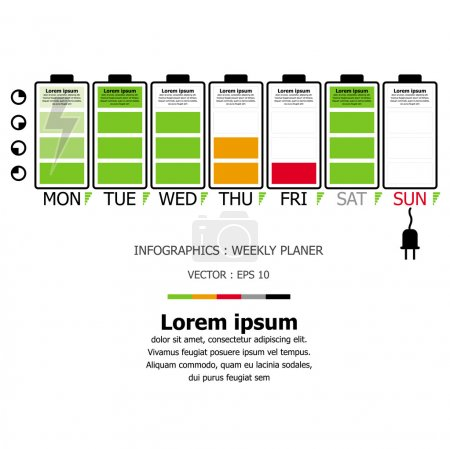 Weekly Planner Infographic Design Template