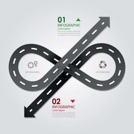 Illustration pour Modèle de conception d'infographie d'affaires de rue et de route - image libre de droit