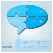Business infographic s komunikace řeč bublina vektor des