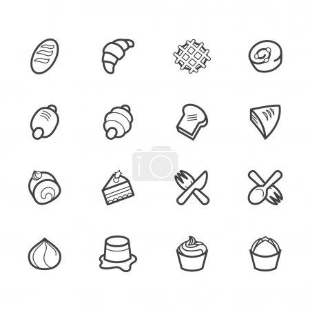 Illustration pour Boulangerie icône vectorielle populaire sur fond blanc - image libre de droit