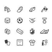 Soccer element vector color icon set