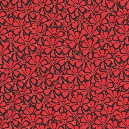Plenty red flowers seamless background