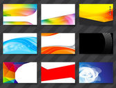 Set of 9 color style Business card Template vector eps10