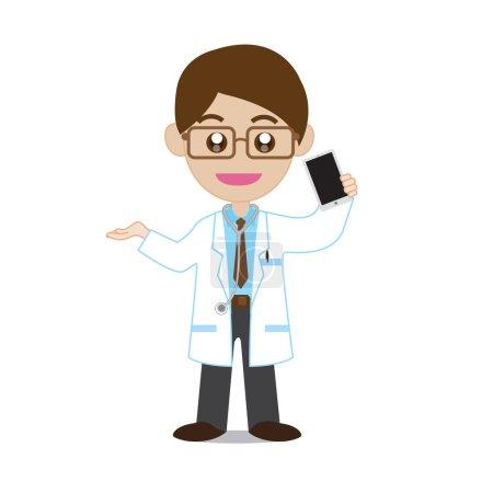 Doctor Showing Smartphone
