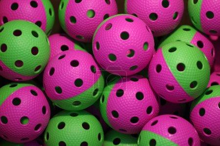 Photo pour Boules de boule de plancher colorées - image libre de droit