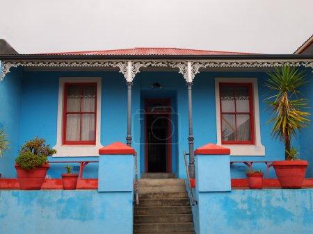 Porch. The front facade of the house.