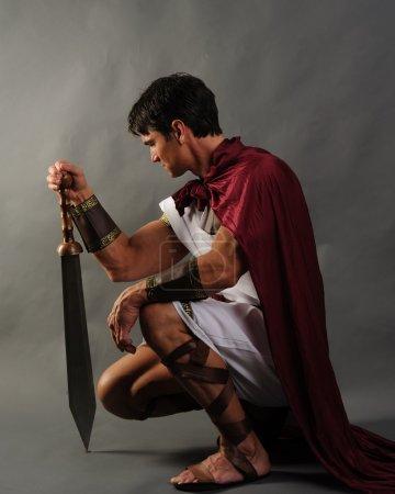 Photo pour Guerrier romain - image libre de droit