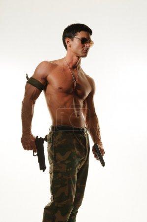 Photo pour Homme militaire - image libre de droit