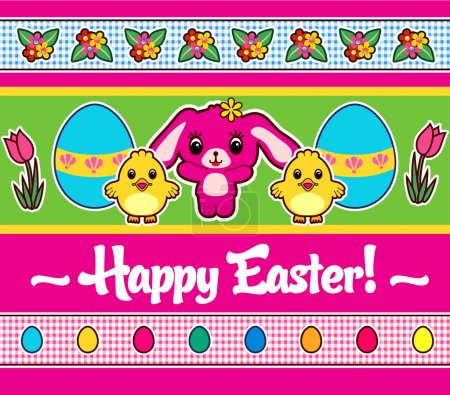 Illustration for Easter Greeting poster or card - Royalty Free Image