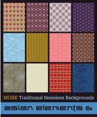 Traditional seamless Japanese fabric patterns