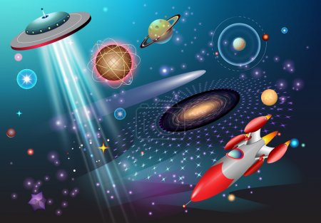 Illustration for Outer space fantasy theme - Royalty Free Image