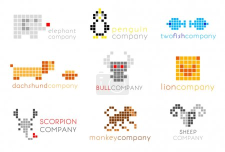 Original vector logos with animals