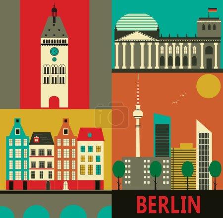 Photo pour Symboles de Berlin . - image libre de droit