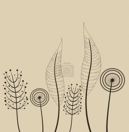 ozdoba z wiosennych kwiatów
