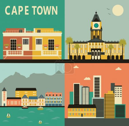 Illustration for Cape Town travel card - Royalty Free Image
