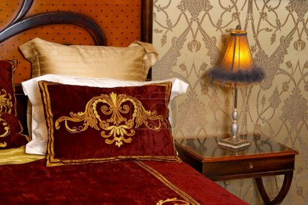 lamp in a bedroom