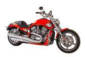 červený motocykly