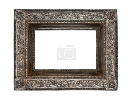 Empty picture frame isolated on white