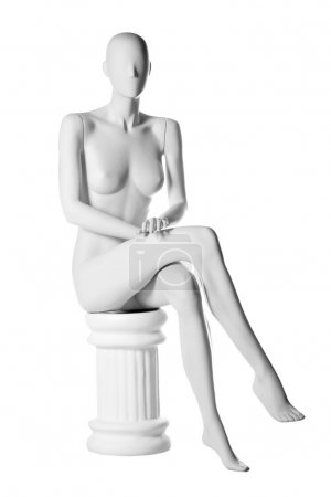 Mannequin naked isolated on white