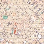 Old chemistry laboratory seamless pattern