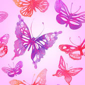 Pozadí s motýly a květiny