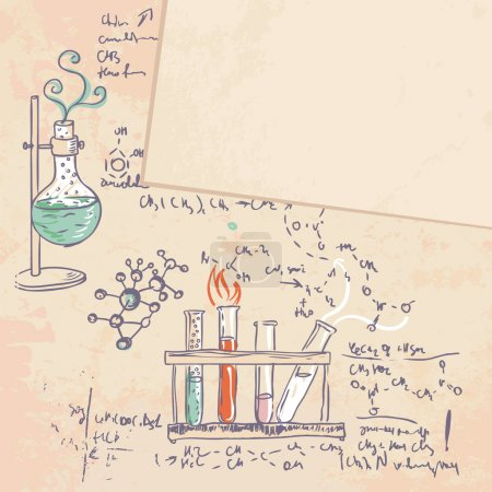 Science chemistry laboratory background