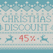 Christmas Sale: Discount 45 (Scandinavian style seamless knitted pattern with deers)