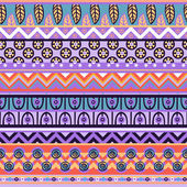 Ethnic African pattern in retro colors