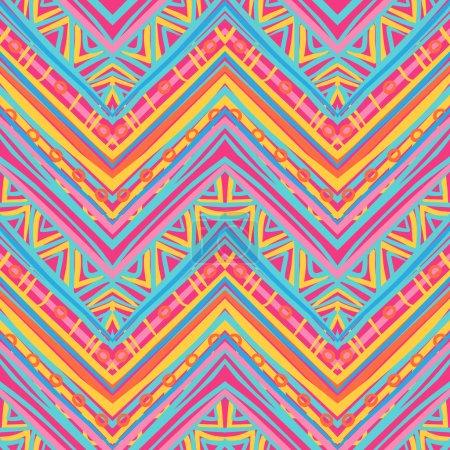 Ethnic zigzag pattern in retro colors