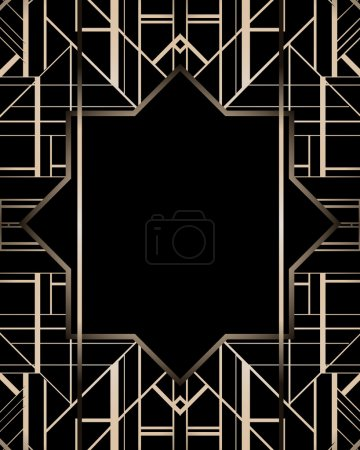 Vintage background. 1920s style