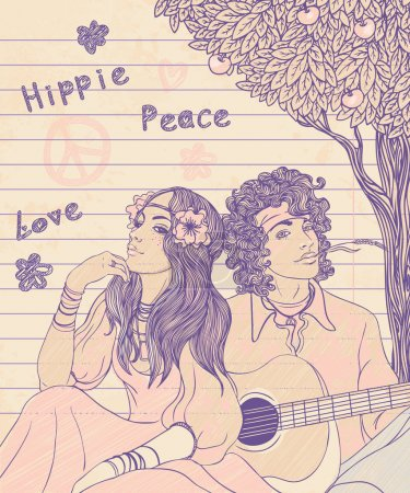 Couple of a hippy