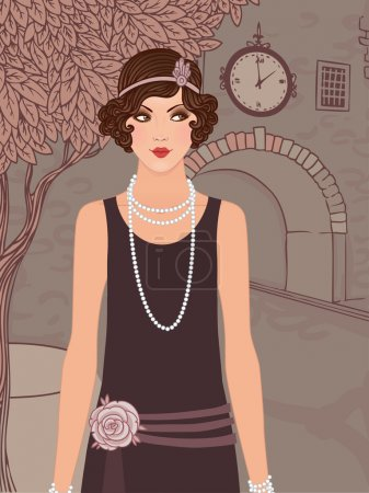 vintage woman in 1920s style