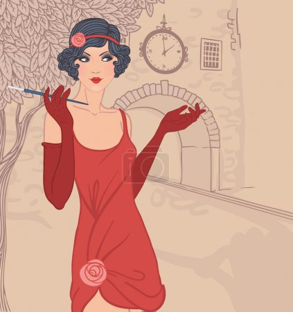 Vintage woman in1920s style