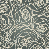 Roses seamless pattern vector illustration