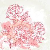 Beautiful peony bouquet design