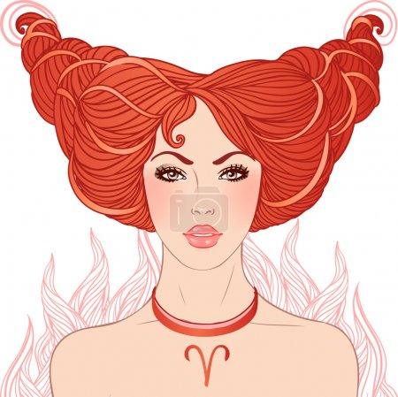 Aries astrological sign.