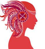 Sagittarius astrological sign as a beautiful girl