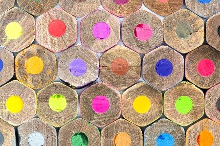 Photo pour Crayons de couleur isolés sur fond blanc, texture - image libre de droit
