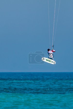 Learning how to kite surf at Avdimou beach Cyprus