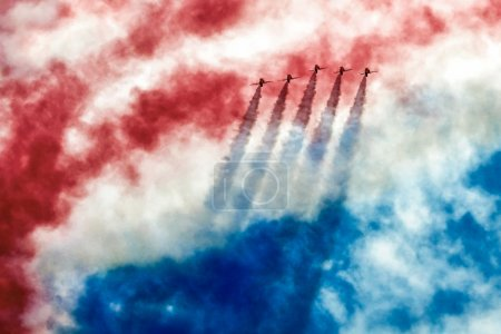 Red Arrows aerial display at Biggin Hill Airshow