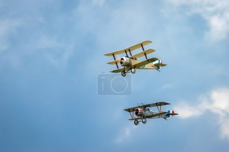 Nieuport 17 (Great War Team) and Sopwith Triplane aerial display