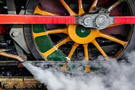 Steam train wheel Bluebell railway