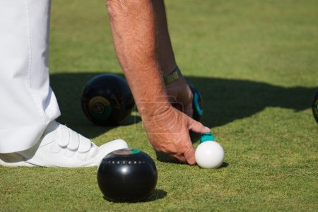 Photo for Lawn bowls match at Colemans Hatch East Sussex - Royalty Free Image
