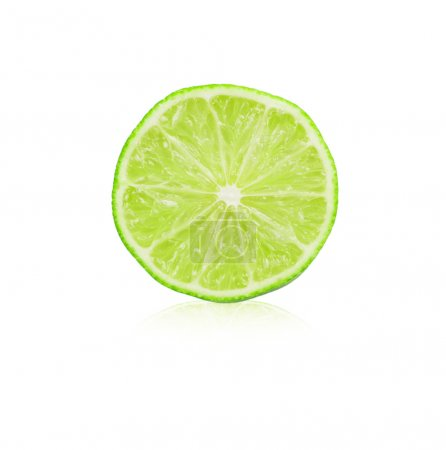 Photo for Lime slice isolated on white - Royalty Free Image