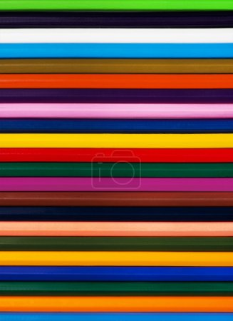 Background of colored wood pencils for children's creativity
