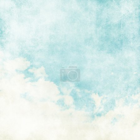 Photo for Water color like cloud on old paper texture background - Royalty Free Image